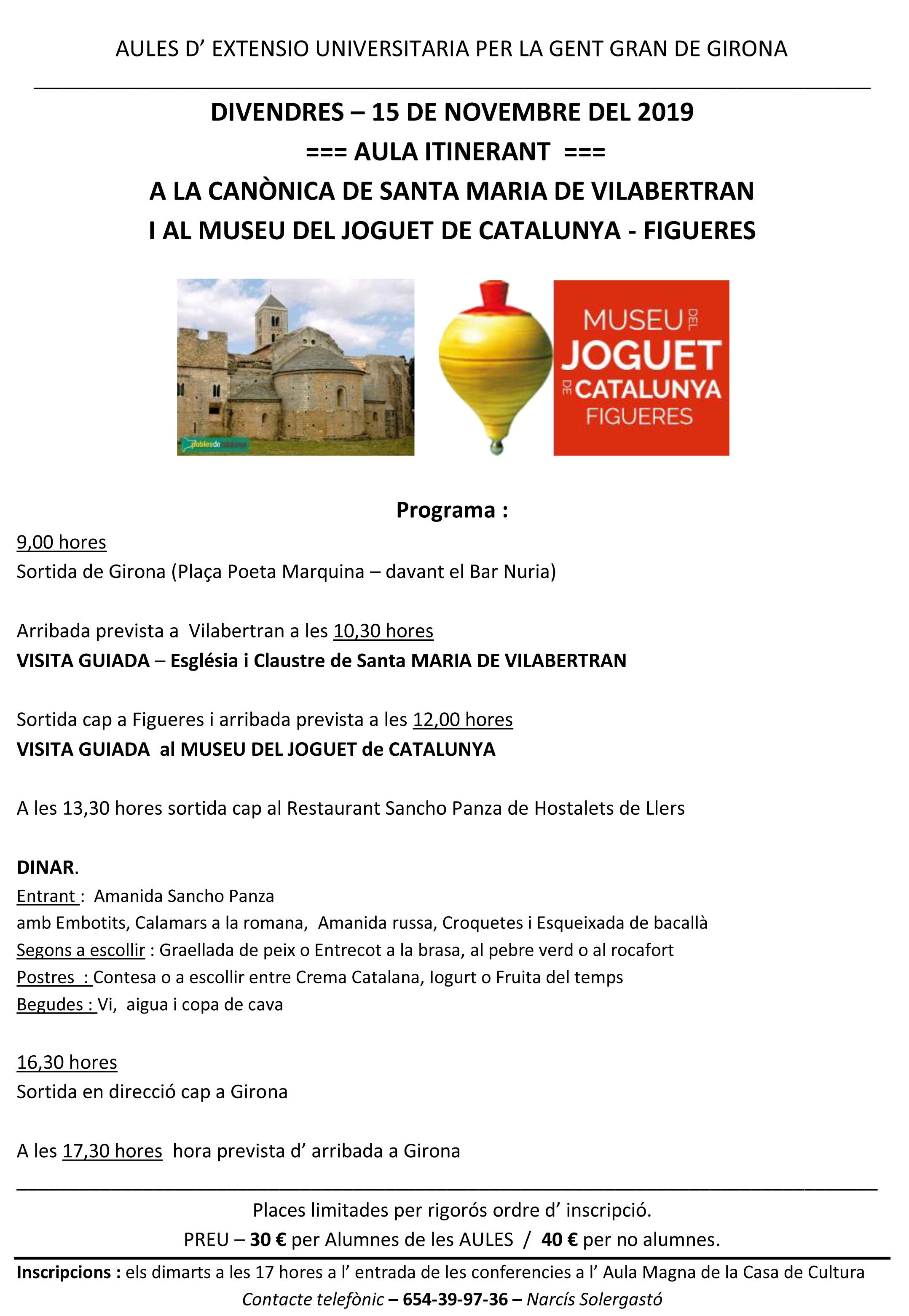 aula VILABERTRAN FIGUERES 15-11-19 programa
